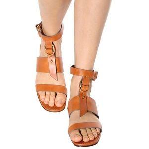 CHLOE Brown Kingsley Flat Sandals
